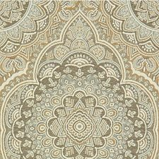 Beige/Light Blue/Taupe Damask Drapery and Upholstery Fabric by Kravet
