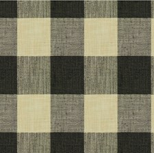 Black/White Check Drapery and Upholstery Fabric by Kravet