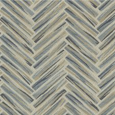 Blue/Beige Geometric Drapery and Upholstery Fabric by Kravet