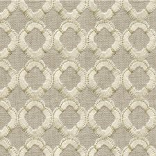 Gold/Beige/Light Yellow Geometric Drapery and Upholstery Fabric by Kravet