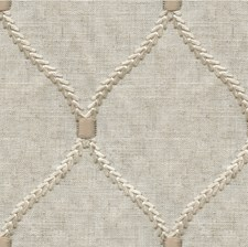 Beige/Ivory Geometric Drapery and Upholstery Fabric by Kravet