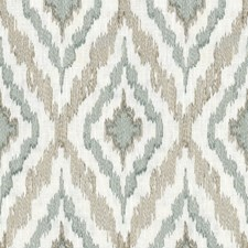 Beige/Light Blue Geometric Drapery and Upholstery Fabric by Kravet