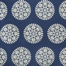 Cobalt Ethnic Drapery and Upholstery Fabric by Kravet