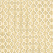 Gold/Ivory Geometric Drapery and Upholstery Fabric by Kravet