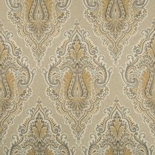 Charcoal/Grey/Camel Damask Drapery and Upholstery Fabric by Kravet