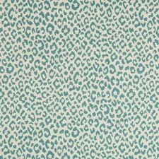 Teal/Beige Small Scales Drapery and Upholstery Fabric by Kravet