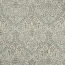 Blue/Beige/Grey Damask Drapery and Upholstery Fabric by Kravet