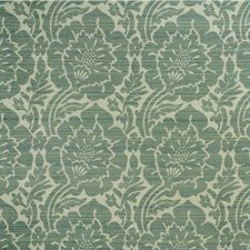White/Light Green/Light Blue Damask Drapery and Upholstery Fabric by Kravet