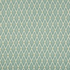 Turquoise/White/Camel Diamond Drapery and Upholstery Fabric by Kravet