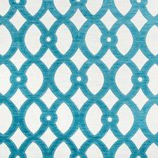 White/Light Blue Lattice Drapery and Upholstery Fabric by Kravet
