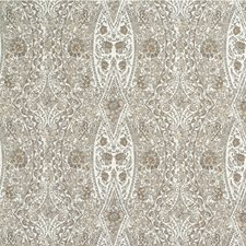 Grey/Yellow/White Damask Drapery and Upholstery Fabric by Kravet