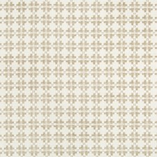 Taupe Geometric Drapery and Upholstery Fabric by Kravet