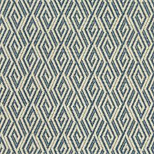 Blue/Beige/Ivory Diamond Drapery and Upholstery Fabric by Kravet