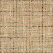 Beige/Teal/Wheat Check Drapery and Upholstery Fabric by Kravet