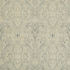 Beige/Blue Paisley Drapery and Upholstery Fabric by Kravet