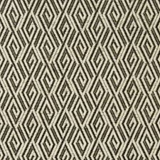 Black/Beige/Ivory Diamond Drapery and Upholstery Fabric by Kravet