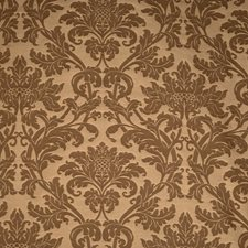 Chocolate Damask Drapery and Upholstery Fabric by Fabricut