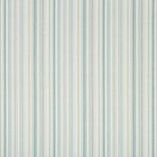 White/Celery/Light Blue Stripes Drapery and Upholstery Fabric by Kravet