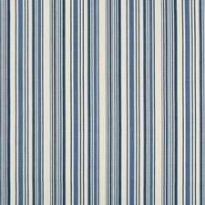 Dark Blue/White Stripes Drapery and Upholstery Fabric by Kravet