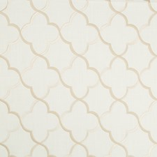 White/Beige Lattice Drapery and Upholstery Fabric by Kravet