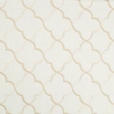White/Beige Lattice Drapery and Upholstery Fabric by Kravet