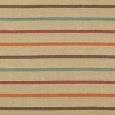 Beige/Orange/Multi Stripes Drapery and Upholstery Fabric by Kravet