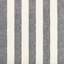 White/Dark Blue Stripes Drapery and Upholstery Fabric by Kravet