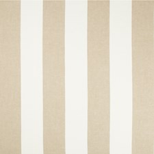 White/Beige Stripes Drapery and Upholstery Fabric by Kravet