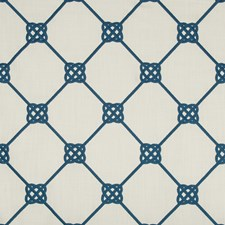Marine Geometric Drapery and Upholstery Fabric by Kravet