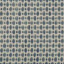 Light Blue/Blue Geometric Drapery and Upholstery Fabric by Kravet