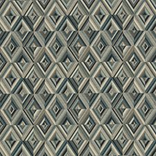 Ivory/Taupe/Blue Geometric Drapery and Upholstery Fabric by Kravet