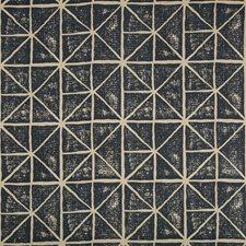 Beige/Indigo Geometric Drapery and Upholstery Fabric by Kravet
