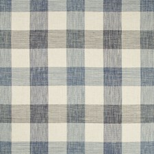 Indigo/Ivory/Blue Plaid Drapery and Upholstery Fabric by Kravet