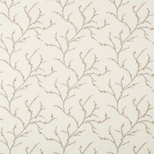 White/Taupe/Pink Botanical Drapery and Upholstery Fabric by Kravet