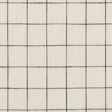 White/Black Plaid Drapery and Upholstery Fabric by Kravet