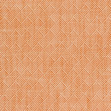 Orange/White Small Scale Drapery and Upholstery Fabric by Kravet