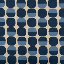 Beige/Blue Dots Drapery and Upholstery Fabric by Kravet