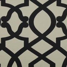 Black/Beige Abstract Drapery and Upholstery Fabric by Duralee