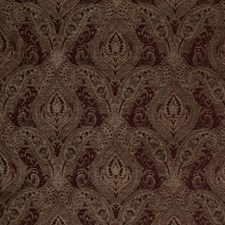 Cranberry Paisley Drapery and Upholstery Fabric by Fabricut