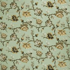 Spearmint Floral Drapery and Upholstery Fabric by Fabricut