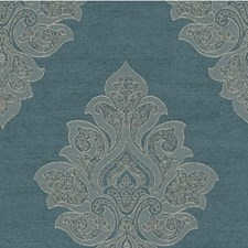 Blue Dusk Damask Drapery and Upholstery Fabric by Kravet