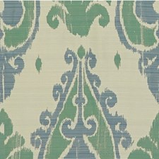 Green/Grey/Blue Ethnic Drapery and Upholstery Fabric by Kravet
