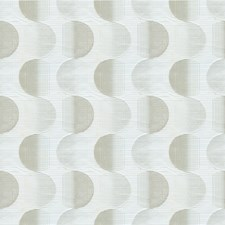 White/Silver Geometric Drapery and Upholstery Fabric by Kravet
