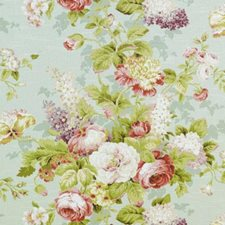 Spring Green Botanical Drapery and Upholstery Fabric by Duralee