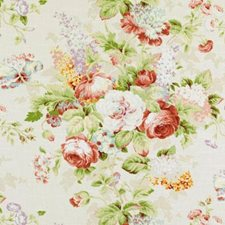 Natural/Pink Botanical Drapery and Upholstery Fabric by Duralee