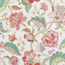 Rose/Green Floral Large Drapery and Upholstery Fabric by Duralee