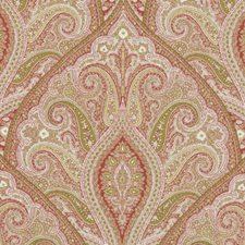 Melon Paisley Drapery and Upholstery Fabric by Duralee