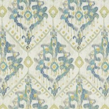 Blue/Yellow Ethnic Drapery and Upholstery Fabric by Duralee