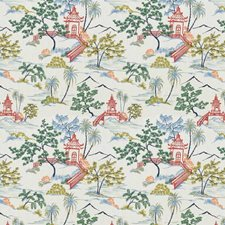 Coral Leaf Embroidery Drapery and Upholstery Fabric by Stroheim