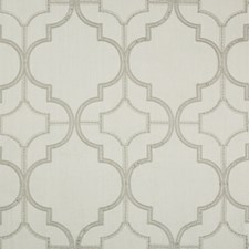 Silver Medallion Drapery and Upholstery Fabric by Kravet